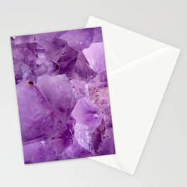 Violet Kryptonite Crystals Stationery Cards