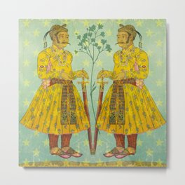 Mirrored Mughals Metal Print