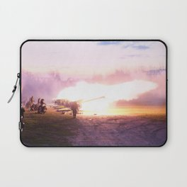 Battle scene with Artillery guns. Laptop Sleeve
