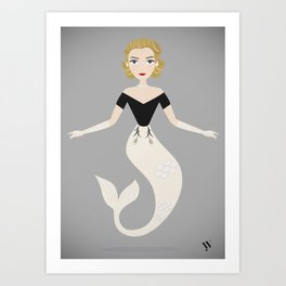 Mermaid Grace Kelly Art Print
