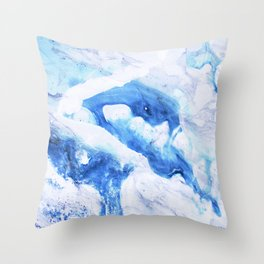 Ocean Marble Throw Pillow