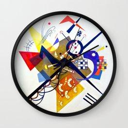 Vassily Kandinsky - Auf Weiss II  (on white II) Wall Clock