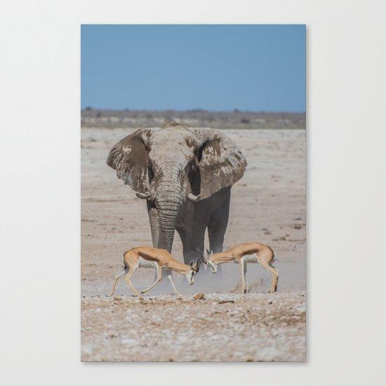 Elephant Safari Canvas Print