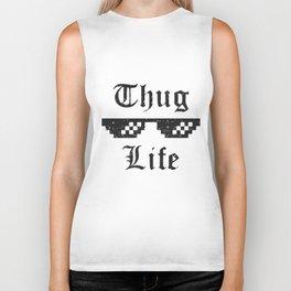 Thug life glasses print Biker Tank