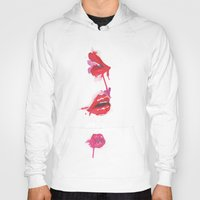 lips Hoodies featuring lips by jgart