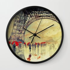 Winter in Paris Wall Clock