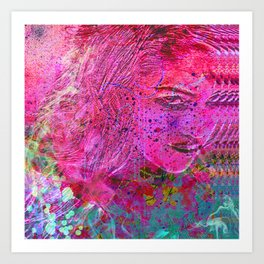 Lustful glance Art Print