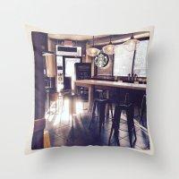 starbucks Throw Pillows featuring Starbucks by Art By JuJu