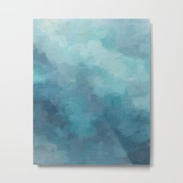 Mint, Aqua, Turquoise, Navy, Blue, Nautical Wall Art, Abstract Art Prints, Wall Decor, Abstract Painting, Modern Minimal Art Metal Print