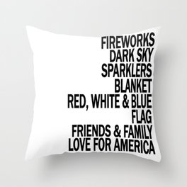 Components of a Fantastic 4th of July - Happy Independence Day! Throw Pillow