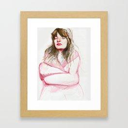 Lady in Pink Framed Art Print