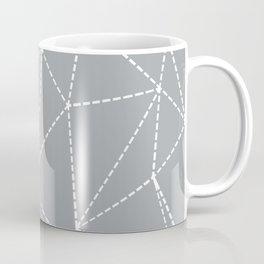 Abstract Dotted Lines Grey Coffee Mug