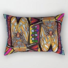 Golden Cicadas  Rectangular Pillow