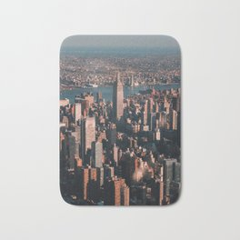 Empire State Building seen from a plane Bath Mat
