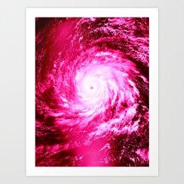 Pink Hurricane Art Print