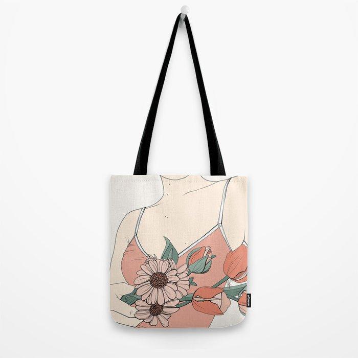 Daisies & Tulips Tote Bag