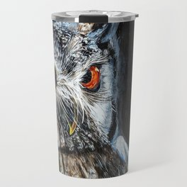Dark Night, Eyes Bright Travel Mug