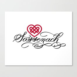 Sassenach with Red Celtic Heart (Light) Canvas Print