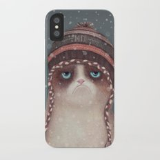 Christmas Cat iPhone X Slim Case