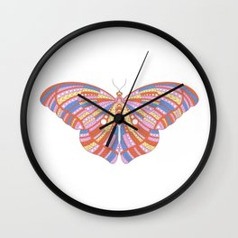 Ethnic Butterfly Wall Clock