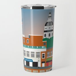 Annapolis, Maryland - Skyline Illustration by Loose Petals Travel Mug
