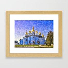 St Michael's Golden Domed Monastery Framed Art Print