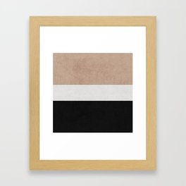 classic - natural, cream and black Framed Art Print