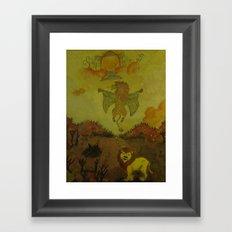 Lion Heaven Framed Art Print