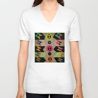 butterflies V-neck T-shirts featuring butterflies by simay