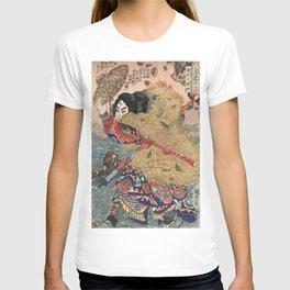 Samurai Japanese Woodblock Print by Utagawa Kuniyoshi T-shirt