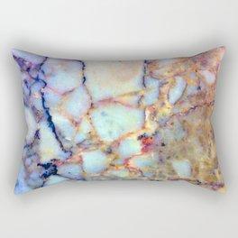 marble effect 007 (blue) Rectangular Pillow