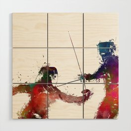 Fencing sport art #fencing Wood Wall Art