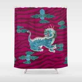 FOO BEASTIE ON MAGENTA Shower Curtain