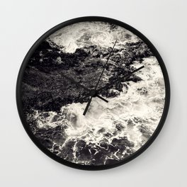Black Ocean Riff Wall Clock