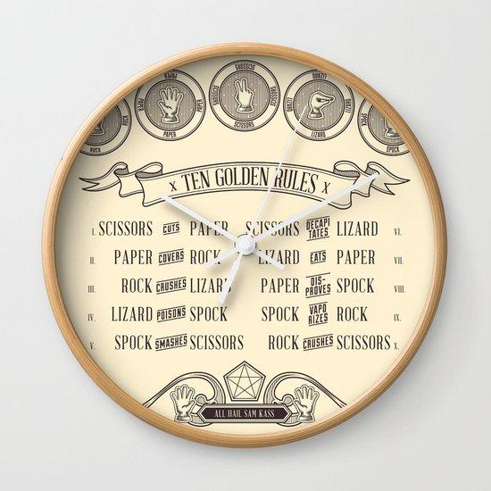 Rock Paper Scissors Lizard Spock Wall Clock
