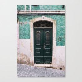 Old door in Lisbon Canvas Print