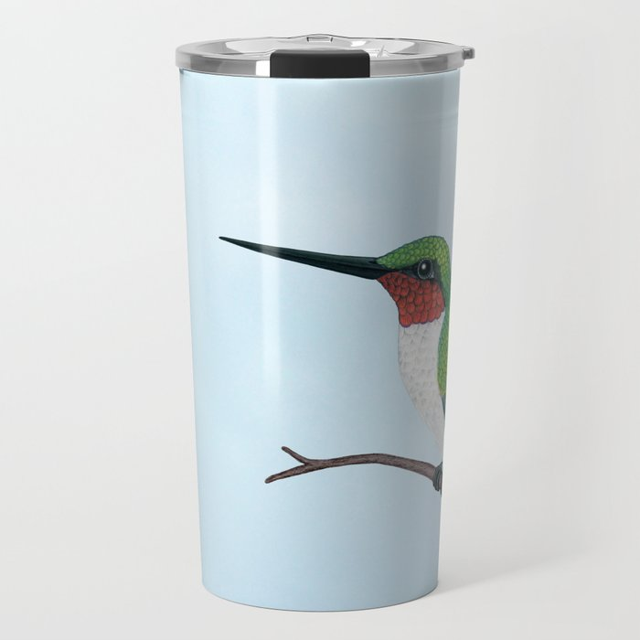 the studious male (ruby-throated hummingbird) Travel Mug