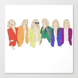 Cate Blanchett - Rainbow Pride Flag Canvas Print