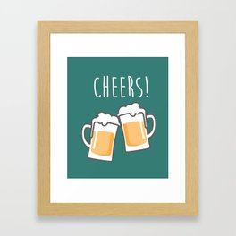 Cheers for peers with beer - Enjoy beer day with your friends Framed Art Print