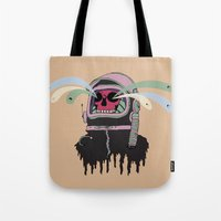 ashton irwin Tote Bags featuring Dead Space: The Spirits Escape by Terry Irwin