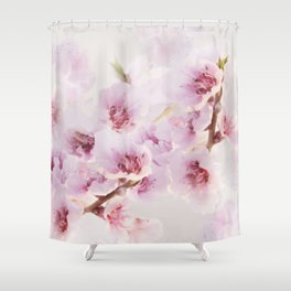 Blossoms greet spring Shower Curtain