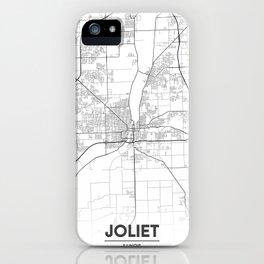 Minimal City Maps - Map Of Joliet, Illinois, United States iPhone Case