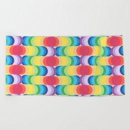 Rainbow Dragon Scales 2 Beach Towel