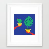 plants Framed Art Prints featuring Plants by cristina benescu