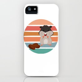Sunset Hamster iPhone Case