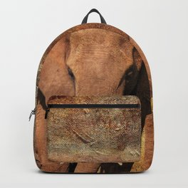 Elephants Family Portrait Backpack
