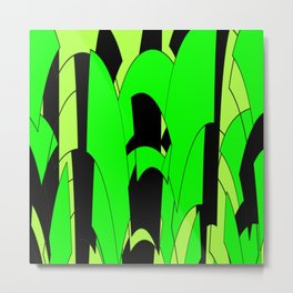 Modern Lime Green Abstract Metal Print
