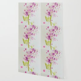 Lilac Sweet Pink Blossom watercolor by CheyAnne Sexton Wallpaper