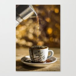 More coffee please Canvas Print