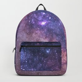 Purple Galaxy Star Travel Backpack